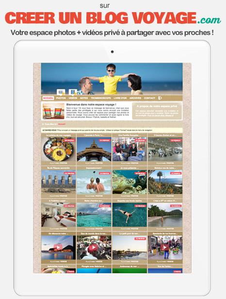 Espace de partage sécurisé pour albums photos et vidéos de voyage