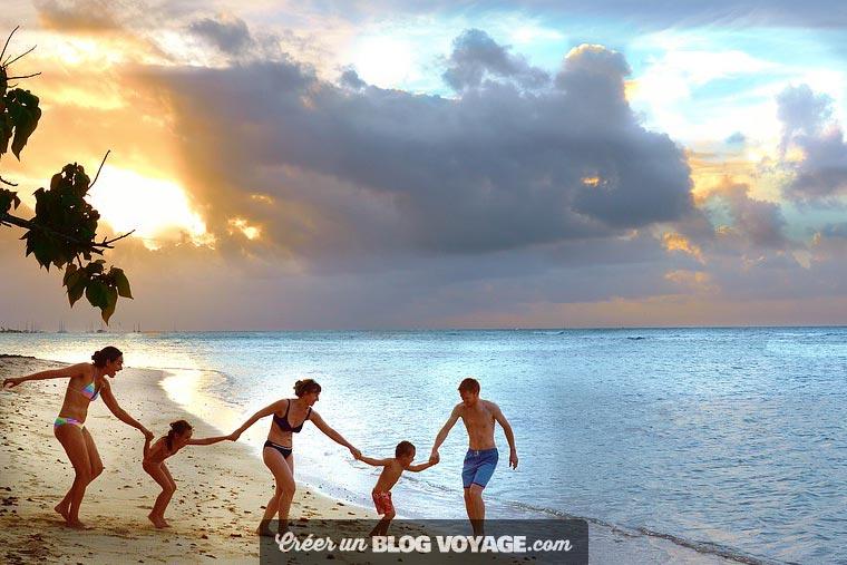 Photos de famille en vacances