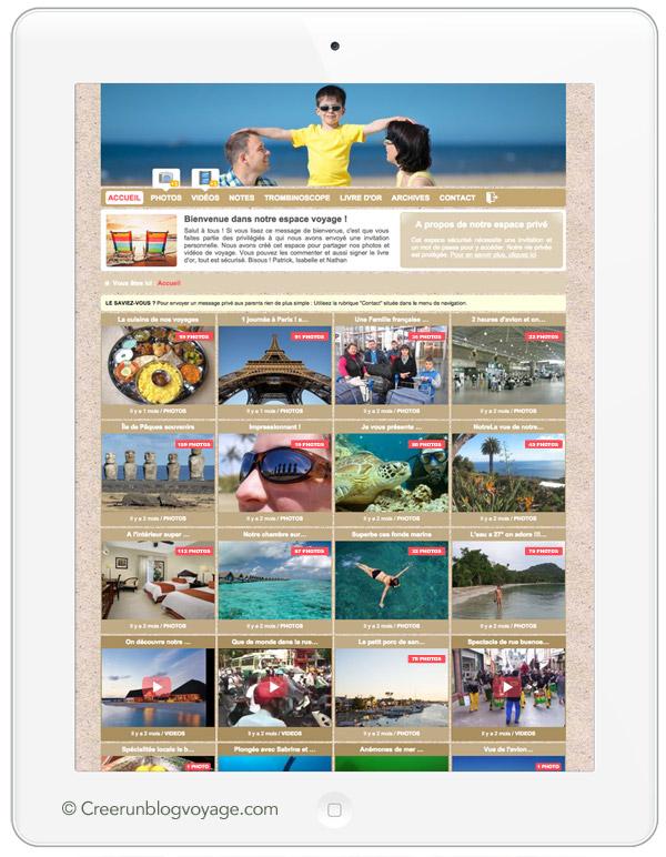 Créer un carnet de voyage en ligne permet de partager ses photos de voyage en toute tranquillité