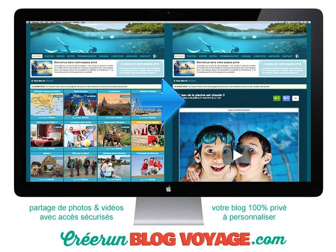 Carnet de voyage privé en ligne avec partage photos vidéos