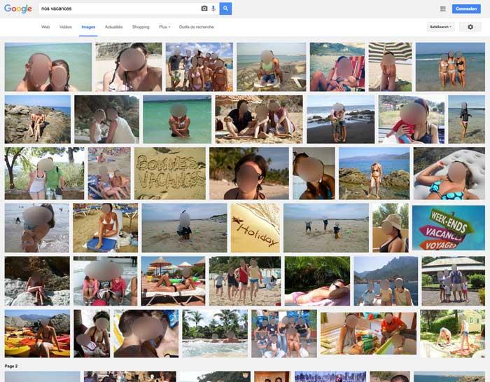 Pour éviter de retrouver ses photos privées dans Google images, mieux vaut réflechir à deux fois quand on publie ses photos sur un site public ou un réseau social