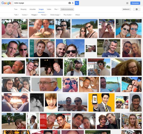 """En tapant dans Google les mot clés """"Notre voyage"""" on découvre un nombre de photos privées hallucinant. Un vrai désastre pour la vie privée de ces voyageurs"""