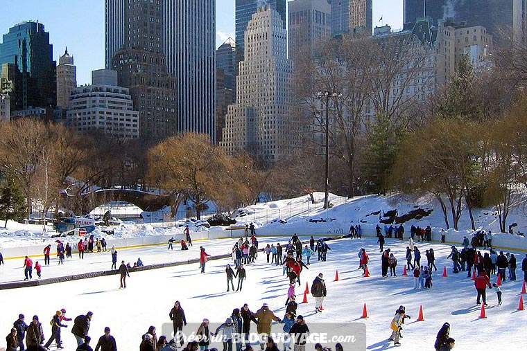 New York : Faire du patin à glace à Wollman Rink en plein New York !