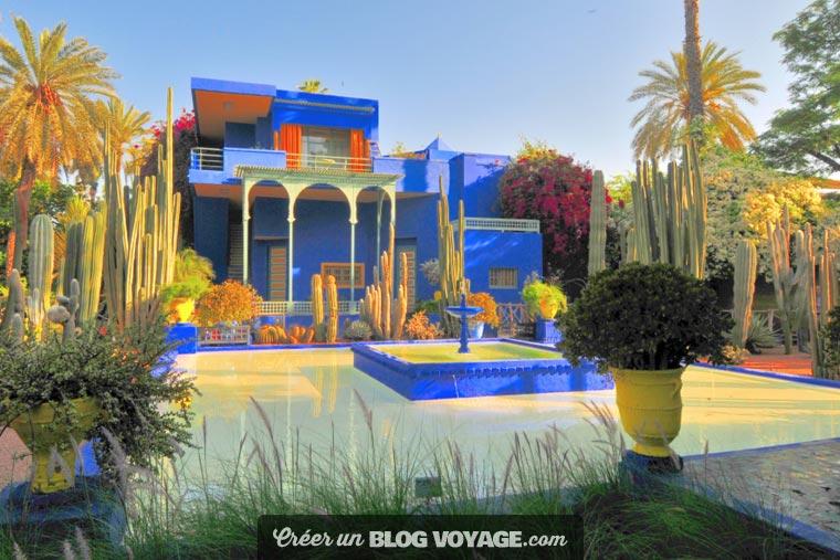 Le jardin Majorelle est un jardin botanique touristique d'environ 300 espèces sur près d'1 hectare à Marrakech au Maroc et un musée de la culture berbère