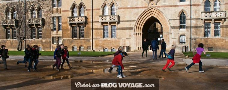 Création d'un blog de voyage scolaire privé