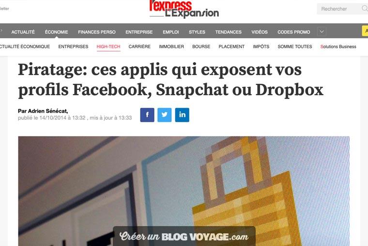 Facebook, Snapchat, Dropbox, iCloud, Google photos : les risques sont élevés